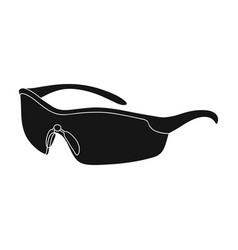 protection for the eyes of cyclists from falling vector image