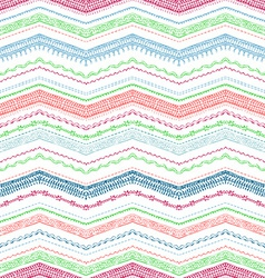 Seamless pattern of sewing stitches vector image