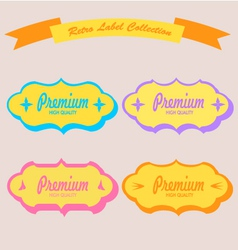 Set of vintage stickers cards and labels vector image