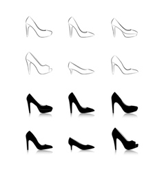 womans fashion high heels vector image vector image