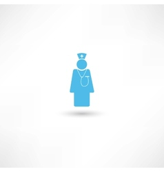 Doctor blue icon vector image