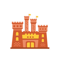 fortress or stronghold with fortified wall and vector image