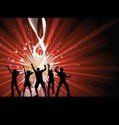 funky dancers vector image vector image