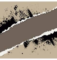 grunge rip design vector image vector image