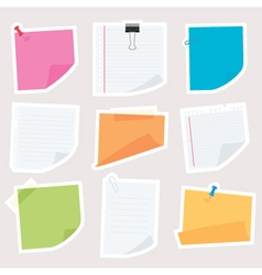 notepapers vector image