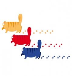 three fat cats vector image