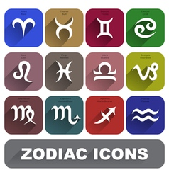 Zodiac signs set vector