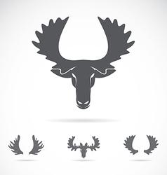 Image of an moose head vector