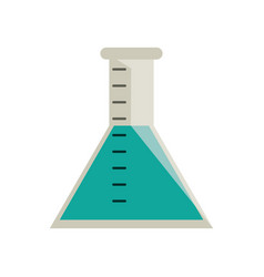 Laboratory test tube chemistry vector
