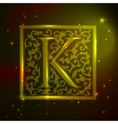 Logo design Vintage Floral vector image