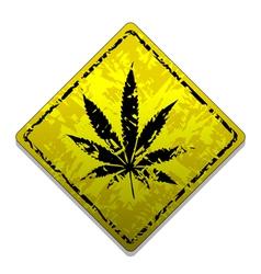 Sign of marijuana vector image vector image