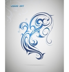 Water spash shape vector image