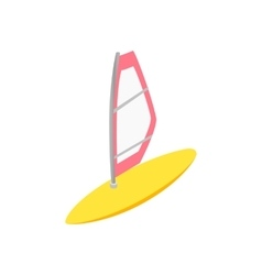 Windsurfing isometric 3d icon vector image vector image