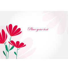 00202 Invitation card with flowers vector image