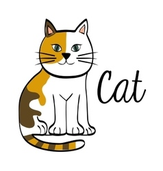 cat design animal concept flat vector image