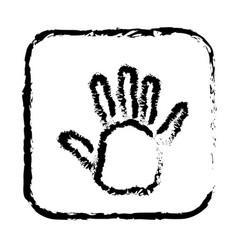 Contour symbol open hand icon vector
