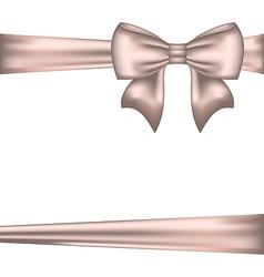 Elegant bow for packing gift vector image