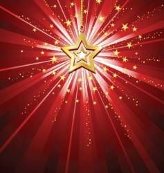 golden star background vector image