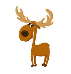 happy cartoon moose vector image vector image