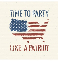 patriot party independence day vector image