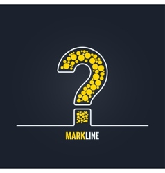 question mark FAQ help background vector image