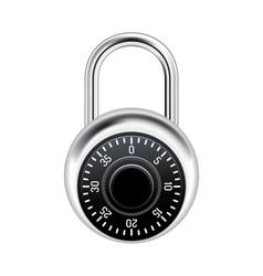 Realistic combination lock vector