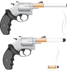 smoking is death vector image