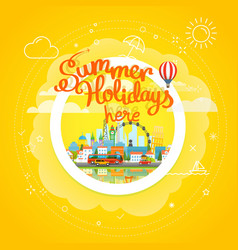 summer travel concept vacation travelling summer vector image vector image