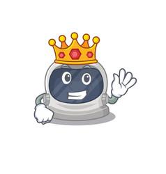 A wise king astronaut helmet mascot design style vector