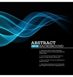 Abstract blue shining wave background vector
