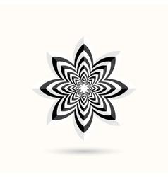 Abstract shape - 3d flower vector