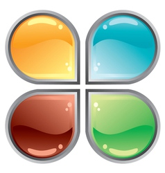abstract web button vector image