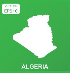 algeria map icon business concept algeria vector image