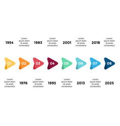 Arrows triangles timeline infographic vector
