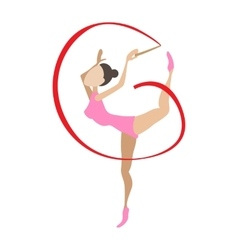 Artistic gymnast cartoon character vector image