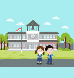 Back to school go home after new normal flat vector