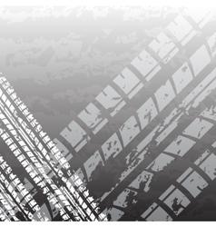 Black tire track vector image