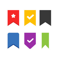 Bookmark icons set label element design vector