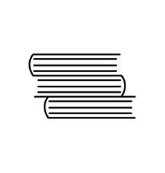 books linear icon vector image