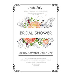 Bridal shower wedding bohemian invite vector