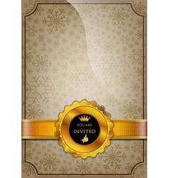 Brown invitation design vector