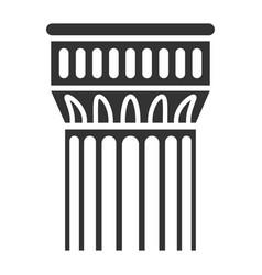 building column icon ancient wall interior vector image