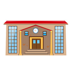 Building with clock over the door vector