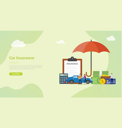 car insurance concept with people men and woman vector image