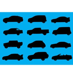 Cars silhouettes part 4 vector