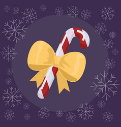 christmas candy flat vector image