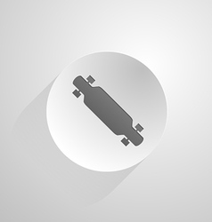 Circle icon for longboard vector image