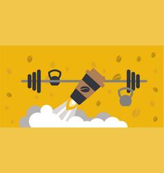 Coffee boost energy vector