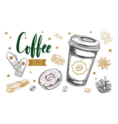coffee to fo concept vector image