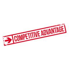 Competitive advantage rubber stamp vector